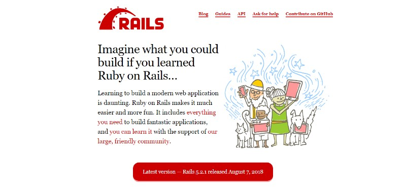 ruby on rails pengembang website